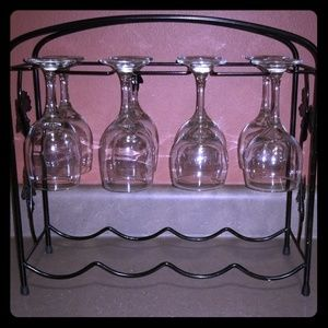 Other - Wine Glasses with Rack